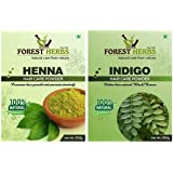 Forest Herbs 100% Pure & Natural Henna and Indigo Powder (Organically Grown) for Hair Care & Hair Color - Each 100Gms