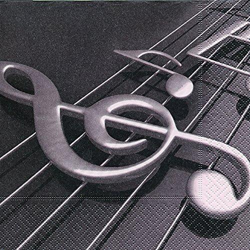 Musik 33x33 cm, 3-lagig, 1/4 gefaltet auf 16,5x16,5 cm ()