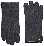 Roeckl Damen Handschuhe Klassischer Walkhandschuh 21013-101, Gr. 8, Grau (Anthrazit 090)