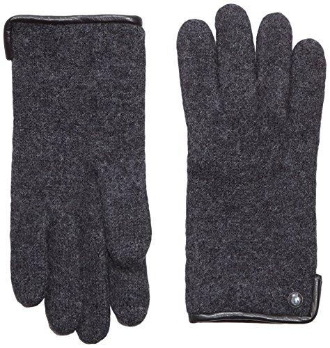 Roeckl Damen Handschuhe Klassischer Walkhandschuh 21013-101, Gr. 7.5, Grau (Anthrazit 090)