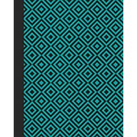 Sketchbook: Geometric Design (Teal Blue) 8x10 - BLANK JOURNAL WITH NO LINES - Journal notebook with unlined pages for drawing and writing on blank paper