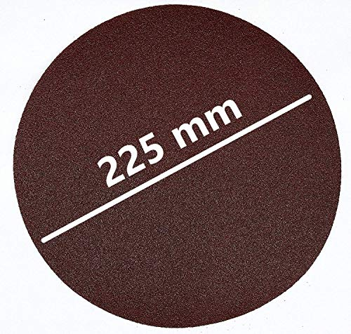 25hojas velcro lijado (–Diámetro 225mm, sin agujeros–Mix del paquete cada 5x grano 40/60/80/120/180/Varo POWX0476–Pulidora/Lijadora jirafa