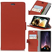 Forhouse Wiko View Wallet Leather Case with Protective Durable Shell Shell Folio flip Cell Phone Cover Bag with Card Slots,Cash Pocket,Brown