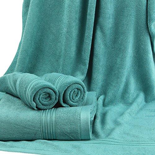 Bambus Home USA Bambus Viskose Ultra Soft Ultra Think 5Solid Color Handtuch Badetuch, petrol, Badetuch -