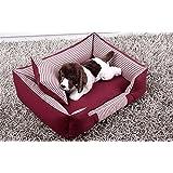 DAN Cama lavable Premium para perros y gatos Un perrito y gatito ortopédico para mascotas Sofá cama con funda lavable extraíble , red , s