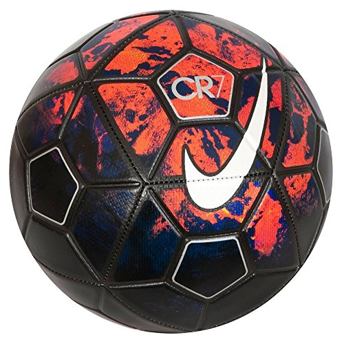 Nike Christiano Ronaldo Cr7 Prestige Lava Graphic/ Metal Silver Football - 2015, Size-5  available at amazon for Rs.520