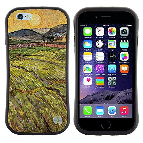 Super Galaxy iFace Slim Fit Seriesdual Layer Rigida Protettiva Custodia Case // V00006236 Campo paesaggio Vin Van Gogh // Apple iPhone 6 4.7
