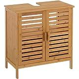Mueble bajo Lavabo nórdico marrón de bambú para Cuarto de baño Basic - LOLAhome