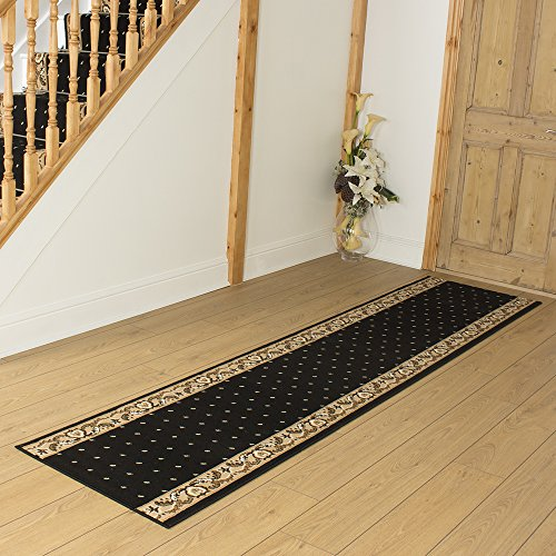 Pin Dot Black - Long Hall & Stair Carpet Runner