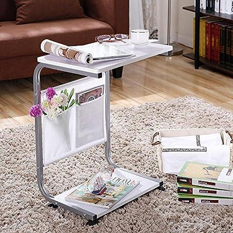 XXTT-Mesa de ordenador portátil de moda de cama simple lazybones, cama con rodillos puede mover tabla pequeña ,