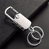 #5: KREEPO® Double Ring lock Hook Keychain _3525 (Chrome) For Maruti Suzuki Swift