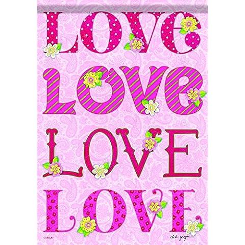 Love Love Love House Bandiera–71,1x 101,6cm–2lati Messaggio
