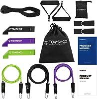 TOMSHOO Tubo de Resistencia Bandas Elásticas de Fitness Juego de 17 Loop Resistance Bands Vario Nivel Resistencia...