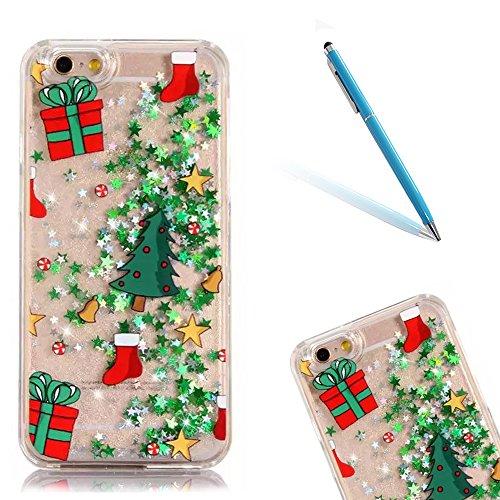 iPhone 8 Hülle, Luxus Christmas Series CLTPY iPhone 7 Dünne Weich Silikon Handytasche mit Transparent Bumper für Apple iPhone 7/8 + 1 x Freier Stift - Glocke Weihnachtsgeschenk