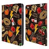 Head Case Designs Offizielle Emoji® Laecheln Gold Pailletten Druck Brieftasche Handyhülle aus Leder für iPad Air 2 (2014)