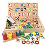 #10: Curtis Toys Baby Learning Educational Wooden Arithmetic Toys Box Alphabet Digital Blocks Matching Enlightenment Donut Number Crunching Toys Children Kids Gifts