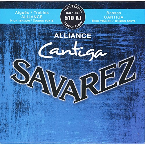 Savarez Saiten für Klassikgitarre Alliance Cantiga Satz 510AJ High Tension blau