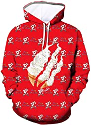 PAJACC Preston Playz Style Santa Claus 3D Printed Hoodie Fashion Long Sleeve Sweatshirt for Kids Boys or Girls