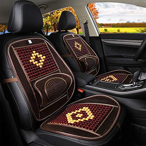 GZTYLQQ Bequemes hölzernes Korn-Auto-Sitzkissen mit Massage-Lendenkissen, atmungsaktives Auto-Sitzkissen-Kissen für die Linderung von Ermüdung für die meisten Autos -