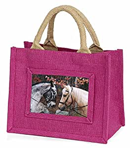 Horses in Love Animal Little Girls Small Pink Shopping Bag Christmas Gift