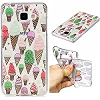 For Samsung Galaxy A3(2016 Model) SM-A310F Case [With Tempered Glass Screen Protector],Qimmortal(TM) Soft Clear Silicone Gel TPU Case Cover ,High Quality TPU with Colorful Cute Printed Pattern Fashion Design Protective Back Rubber Case Cover Shell Perfect