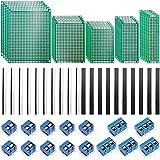 70Stk Doppelseitig Lochrasterplatte Kit - Nabance Doppelseitig Lochrasterplatte Lochrasterplatine Leiterplatte Platine PCB Universal Board Kit 25 PCB Universal Board+30 Kopfleiste +15 Screw Terminal