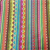 Stoff Baumwollstoff Meterware bunt Streifen Mexiko Mexico gestreift mexikanisch