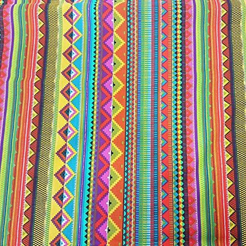 Stoff Baumwollstoff Meterware bunt Streifen Mexiko Mexico gestreift mexikanisch -