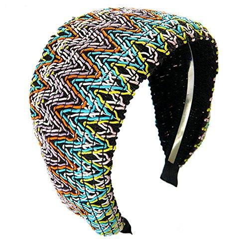 MultiKing Stirnbänder kopftuch haarschmuck haarbänder Headband Accessoires Breite Seite einfach Stoff Bohème Temperament C (Boheme 1 Licht)