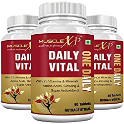 MuscleXP Daily Vital (One Daily) MultiVitamin - 60 Tablets (Pack of 3)