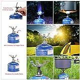 Lixada 25g Mini Camping Gas Herd Kochen Brenner Titan Legierung Faltbar BRS3000t 2700W -