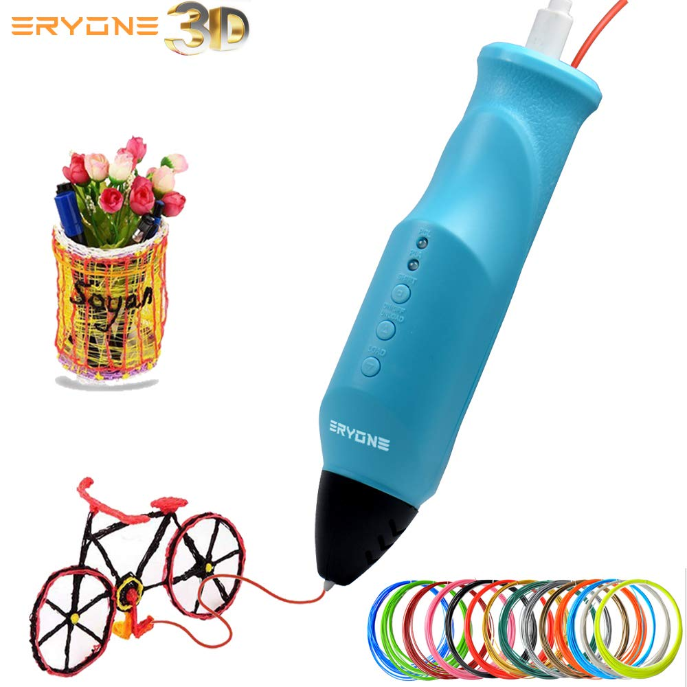 Stylo-3D-Imprimante-3D-Stylo-dimpression-3D-Eryone-Compatible-avec-PLAPCL-Impression–Basse-temprature-Chargement-USB-Filament-de-Charge-automatiquement-Imprimante-3D-pour-lducation-STEM