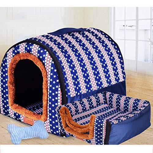 Nido para Mascotas, sofá/Cama, Tela Oxford Antideslizante + Perrera de algodón PP/caseta...