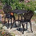 Lazy Susan - IVY Bistrotisch mit IVY Bistrostühlen - Rundes Bistroset, Gartenmöbel aus Metall
