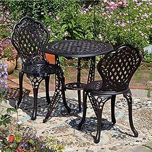 Ivy set da bistrot con tavolino e 2 sedie - Set da giardino amazon ...