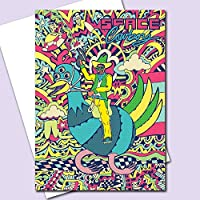 Space Cowboy Greeting Card/Space Cowboy Birthday Card/Retro Birthday Card/Sci-Fi Card/Psychedelic Card/Blank Card