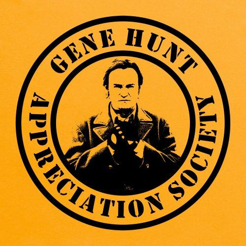 Official Gene Hunt T-Shirt - Appreciation, Damen Gelb