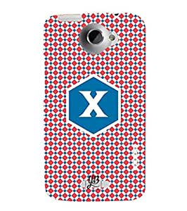 YuBingo HTC One X :: HTC One X+ :: HTC One X Plus :: HTC One XT Designer Phone Back Case Cover ( Xcellent Letter X (Stylish Colourful Check Pattern Printed on Plastic) )