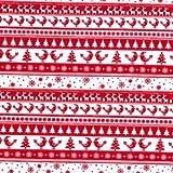 Weihnachten Stoff rot weiß Nordic Streifen Scandi Mustern.