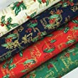 Always Knitting And Sewing Christmas Fat Quarter Bundles 100 % Cotton Fabric Christmas 17