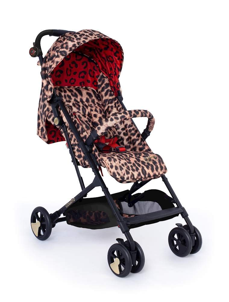 Cosatto Woosh Hear Us Roar Pushchair Cosatto Compact from-birth pushchair, carries up to 25kg child, so you can use it for longer Folds one-handed into small compact bundle, easy store and ultra lightweight for city life Luxury fabrics, rain cover, upf100+ double length hood and visor 3