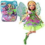 Winx Club - Butterflix Fairy - Flora Doll 28cm with Magic Robe by Witty Toys