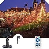 LED Lichteffekt | infinitoo 12 Verschiedene Sternen Lampenprojektor mit Fernbedienung, für Innen-/Außenbeleuchtung als disco, Wand Dekoration und Gartenlicht, Allerheiligen und Weihnachten