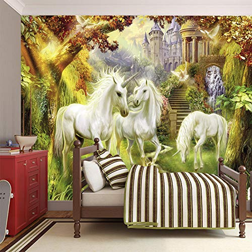 Landschaft Grenze (Schöne Landschaft murals_Landscape murals_Unicorns Fantasy Kreaturen schöne Landschaft muralsWallpaper 3D Fototapete einfügen Grenze Wandbild Tapete Fototapete Wandbilder-250cm×170cm)