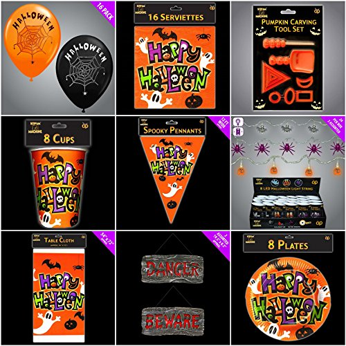 imate Bumper Party Pack, Dekorationen & Schild (Spooky Halloween-food Dekorationen)