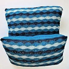 Funda de cojin,2 und, color azul.algodon, cierre de botones ...