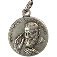 SAINT PIO FROM PIETRELCINA ( PADRE PIO ) MEDAL - Made in HIGH RELIEF - 100% MADE IN ITALY