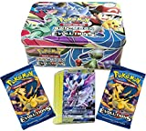 #2: Assemble Pokemon cards Sun Moon & Evolutions Big Tin with two booster packs (Multicolor)