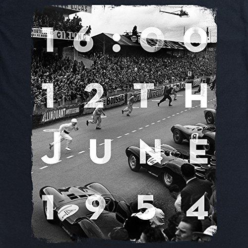 Official LAT Photographic 1954 Le Mans 24 Hours, France T-Shirt, Herren Schwarz