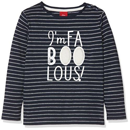 s.Oliver Baby-Jungen 65.808.31.8099 Langarmshirt, Blau (Dark Blue Stripes 58g2), 80 -